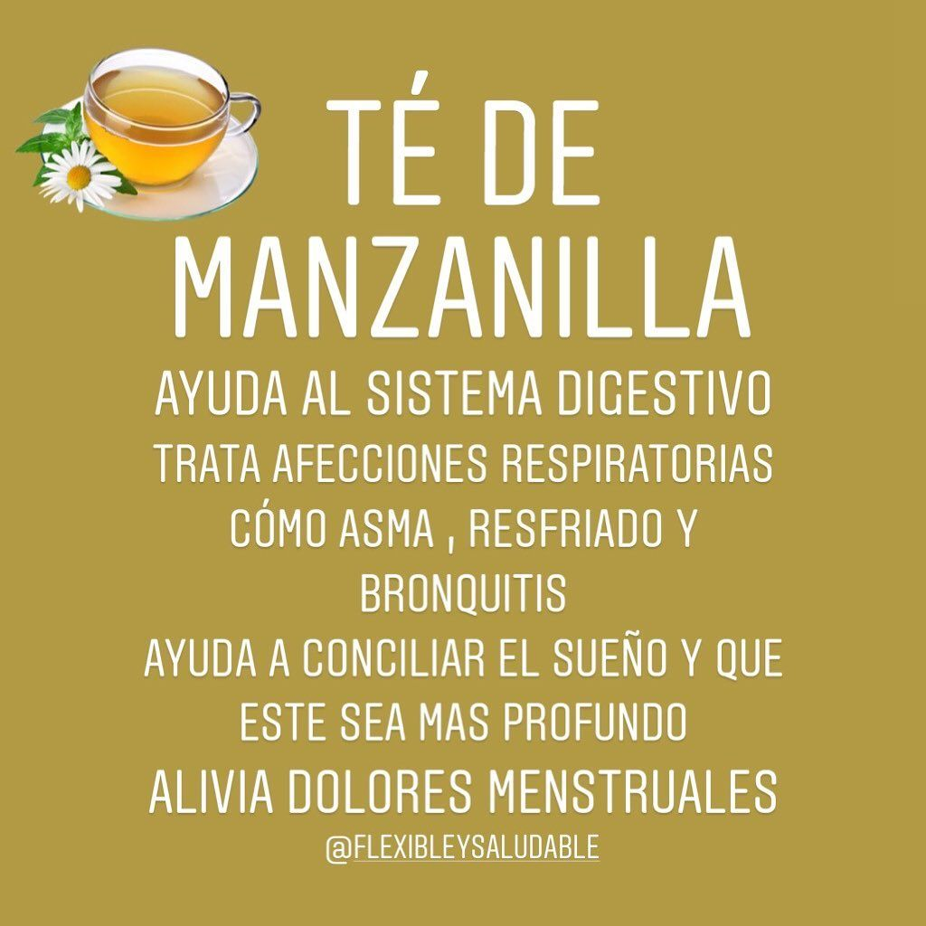 Ana R On Instagram El Té De Manzanilla Tiene Múltiples Beneficios Si Te Sientes Estresado Ti Dolor Menstrual Problemas Para Dormir Aliviar Dolor Menstrual