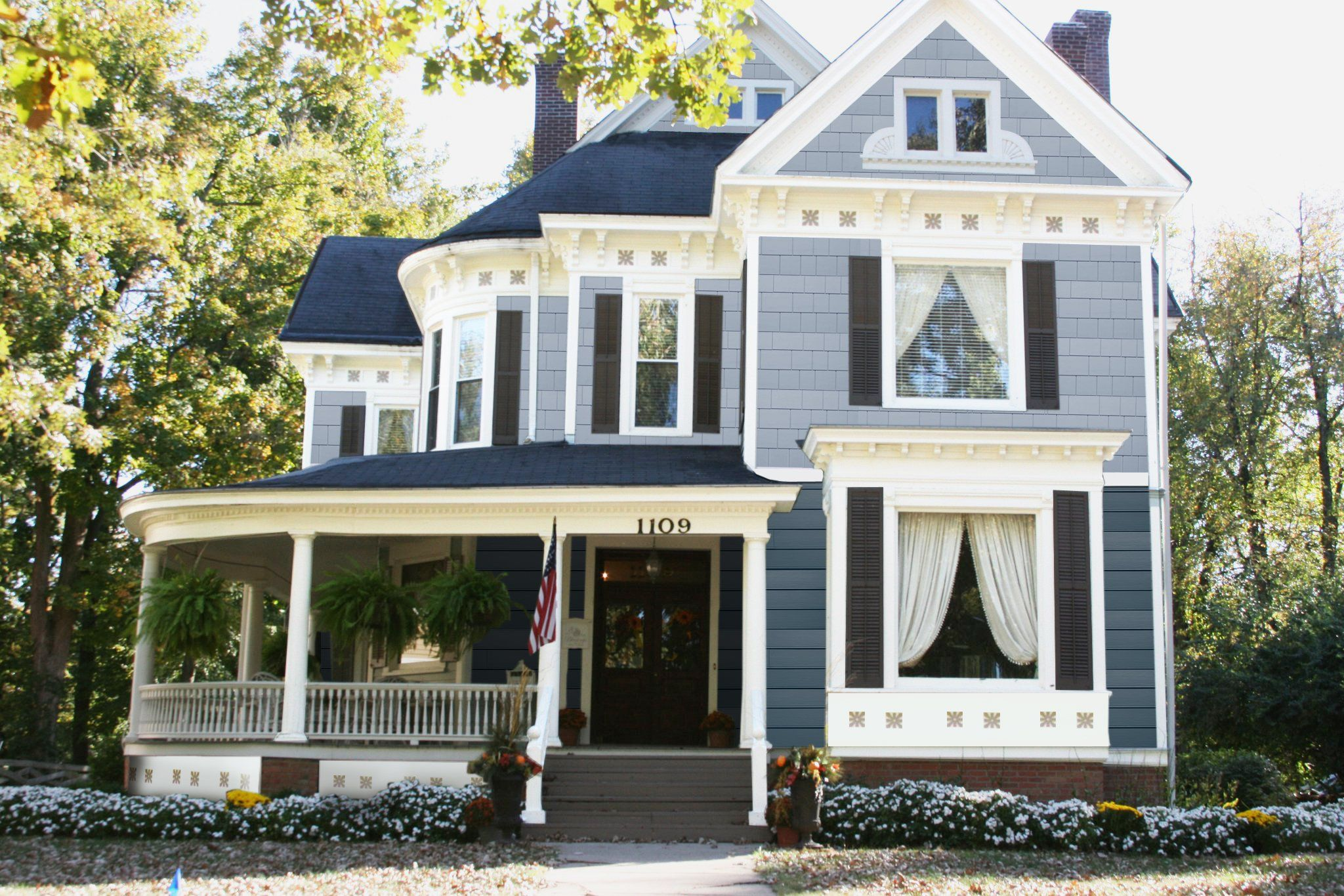 Fiber Cement Siding From James Hardie Dutch Colonial Exterior Colonial Exterior Victorian Homes