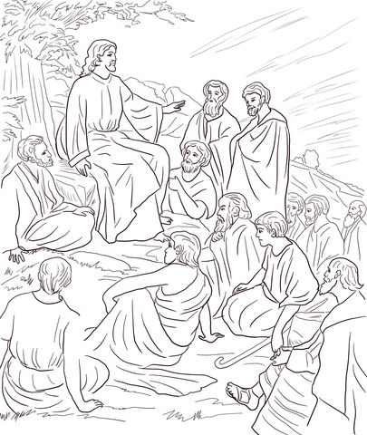 Jesus Teaching People Coloring Page Free Printable Coloring Pages Jesus Coloring Pages People Coloring Pages Bible Coloring Pages