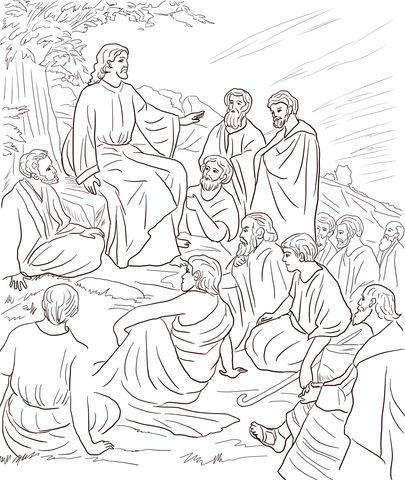 Jesus Teaching People Coloring Page Free Printable Coloring Pages Jesus  Coloring Pages, People Coloring Pages, Bible Coloring Pages
