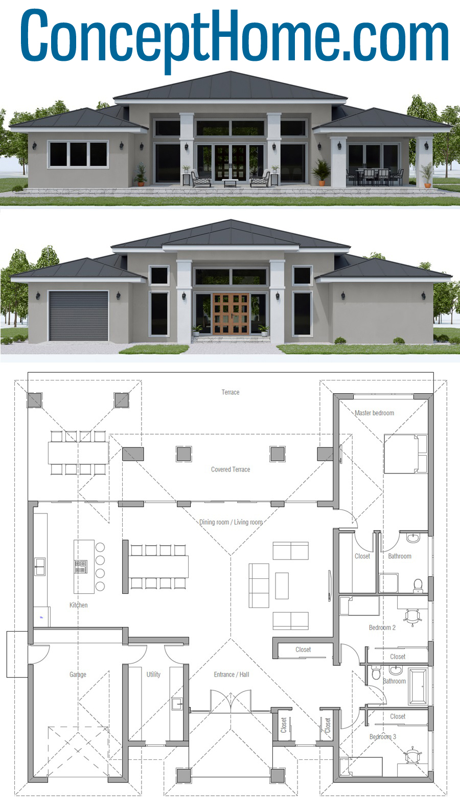 Classical Home Plan Ch569 House Plan Gallery New House Plans Dream House Plans