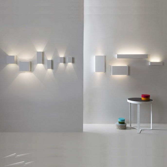 Hereu0027s a lovely collection of #LED wall lights by @astrolighting - white plaster  wall