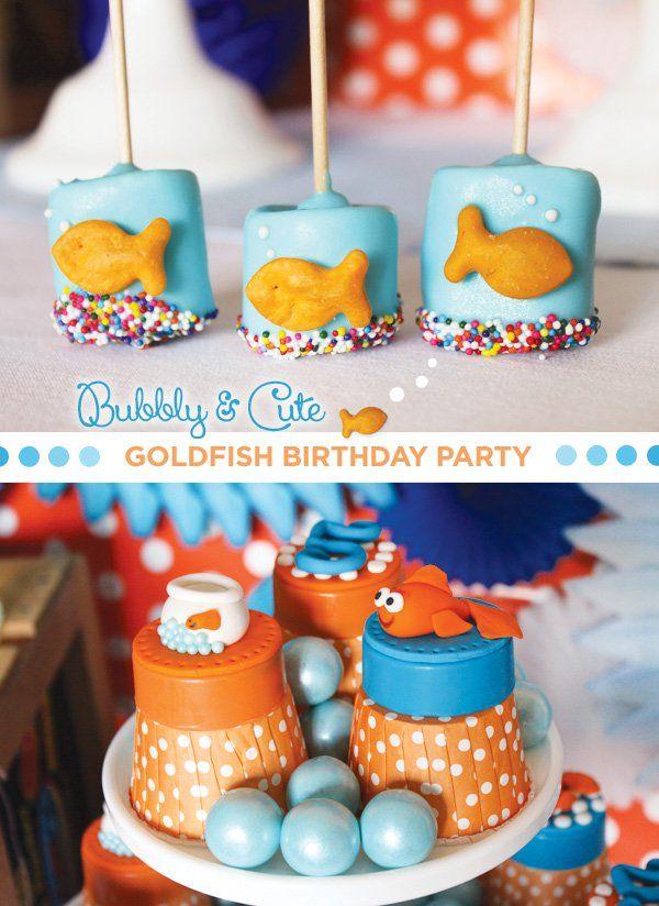 Bubbly Cute Goldfish Birthday Party 5th Birthday Goldfish