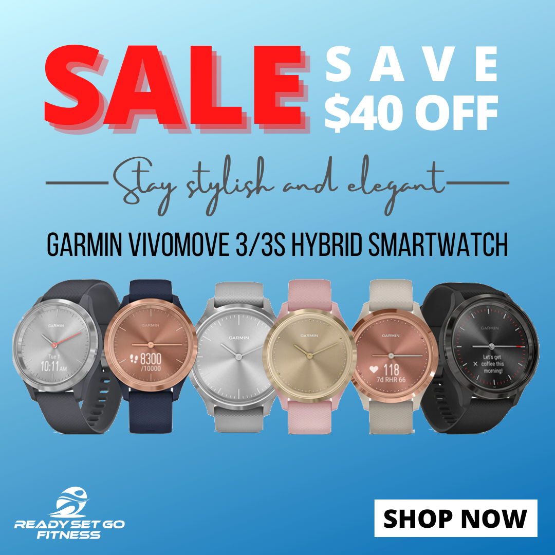 Remain stylish while keeping up your busy life with our Garmin Vivomove 3/3s Hybrid Smartwatch. Buy now and GET $40 OFF @ www.readysetgofitness.com.au #readysetgofitness #Garmin #Vivomove3 #Vivomove3S #hybrid #sportswatches #smartwatches #GPS #activitytracker #SALE #promotion #greatdeals #tracker #sports #fitness #iloveRSGF