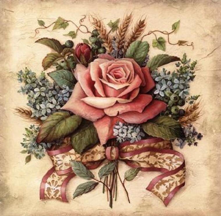картинки для декупажа в стиле винтаж розы компания