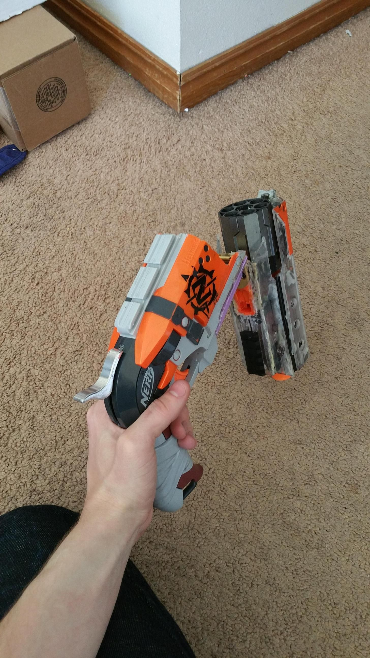 Break Action Rear Loading Hammershot Wip Sweet Nerf Mods Nerf