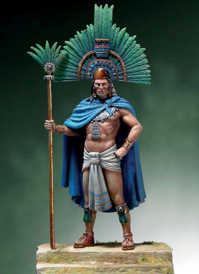 Moctezuma Ii 1520 Figuras Cultura Azteca Moctezuma Ii Y