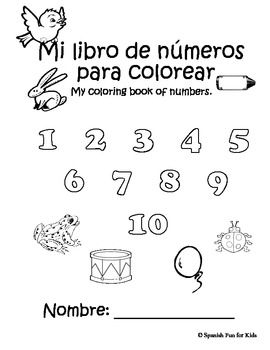 Coloring book of numbers | Coloring books, Spanish and Number