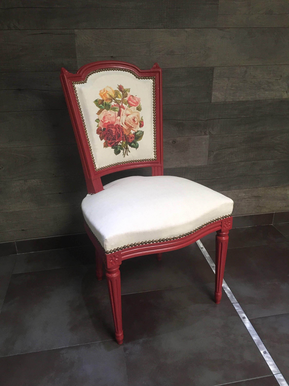 Diy Tissus Mod Podge 1 Chaise Design Chaise Diy Decor Diy Tapisser Une Chaise