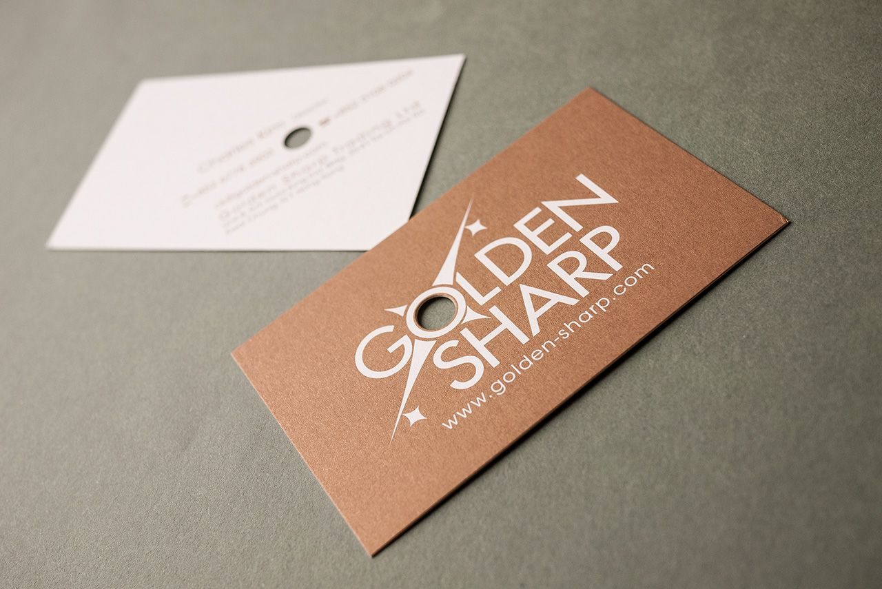 Business card Design with punch hole | Graphic design | Pinterest ...