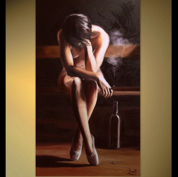 Female erotic nude oil painting