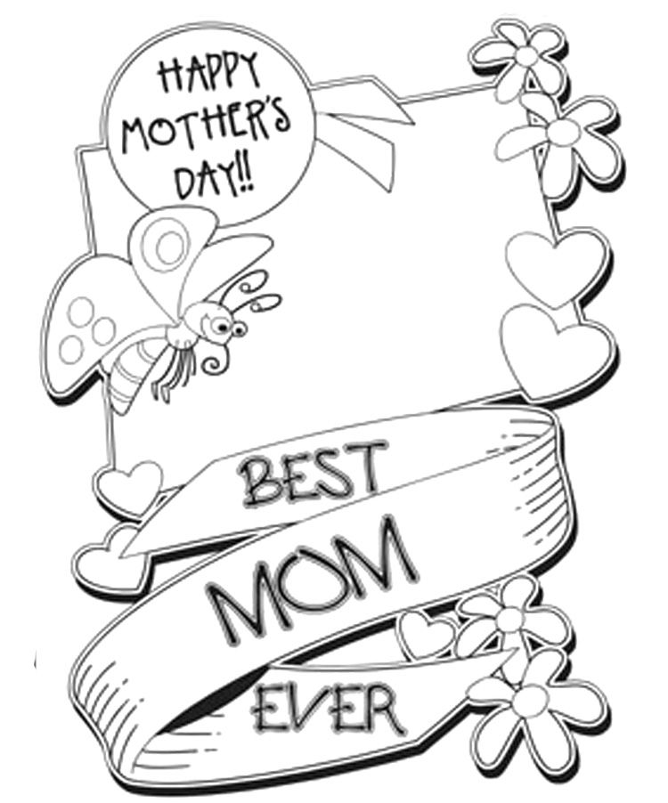 Mothers Day Coloring Sheets Printable  Gardening  Pinterest