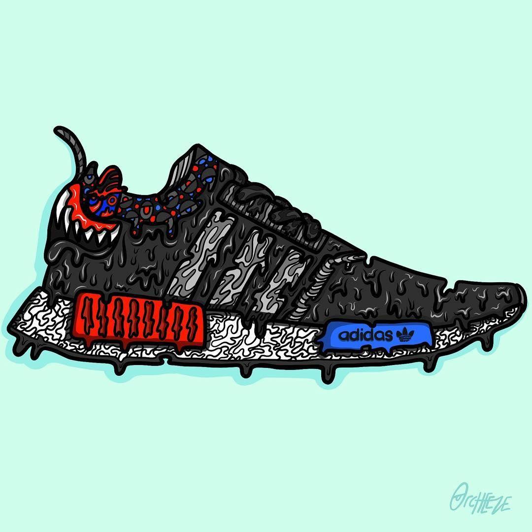 Adidas Originals NMD High Top Sneaker Sort Rød Blå