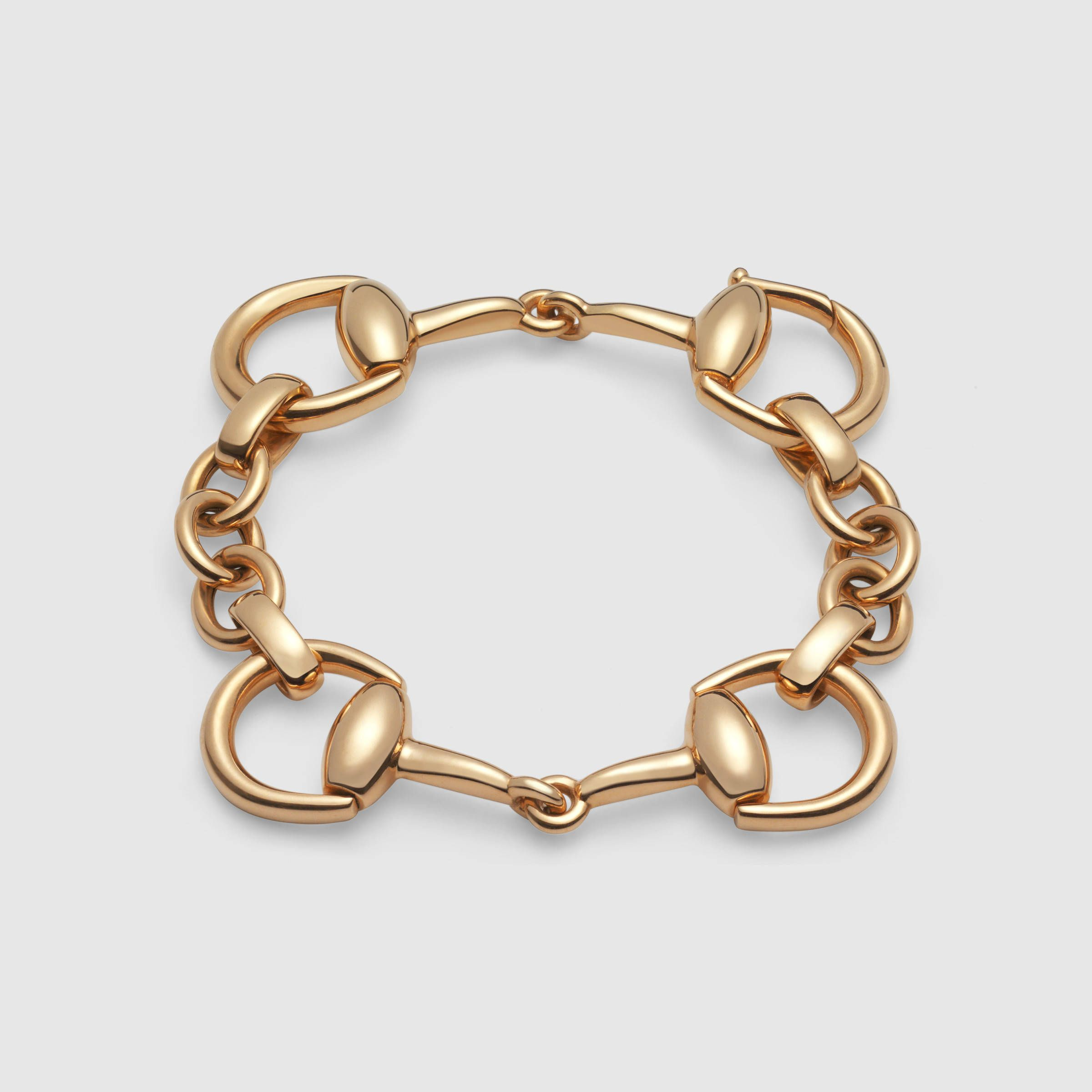 Gucci women horsebit bracelet in yellow gold j