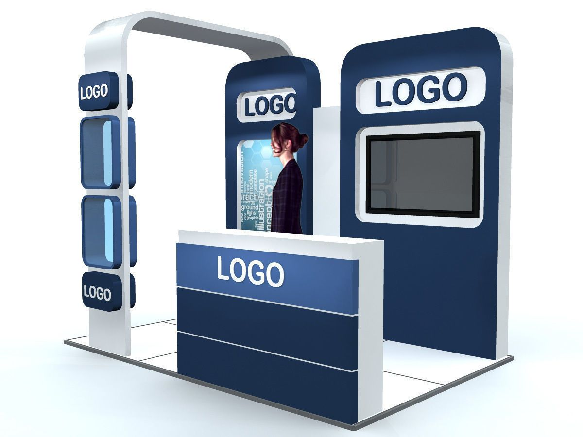 Exhibition Booth Free Download : Exhibition stand d model exhibitions and exhibit