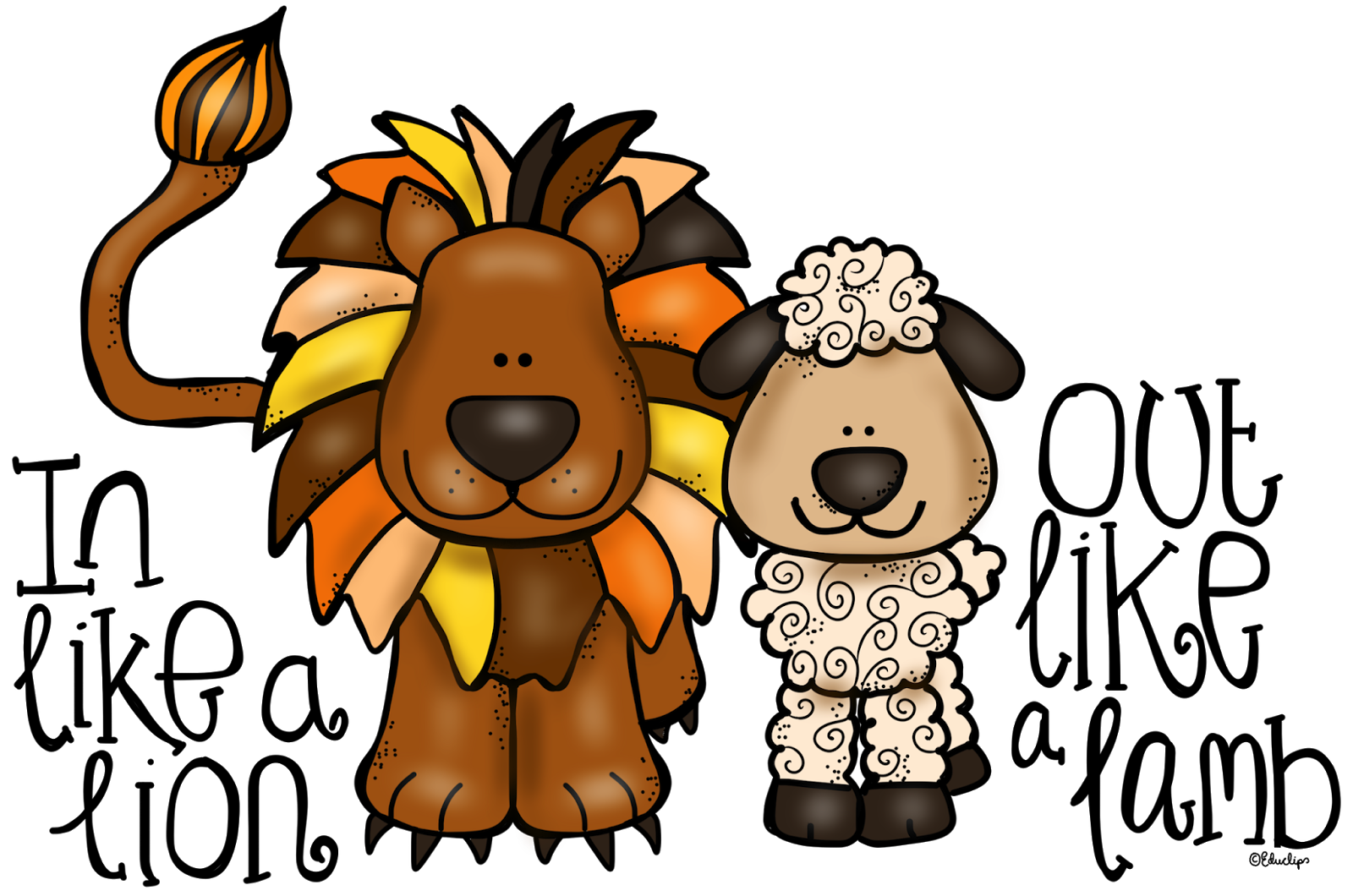 In Like A Lion Out Like A Lamb Clip Art