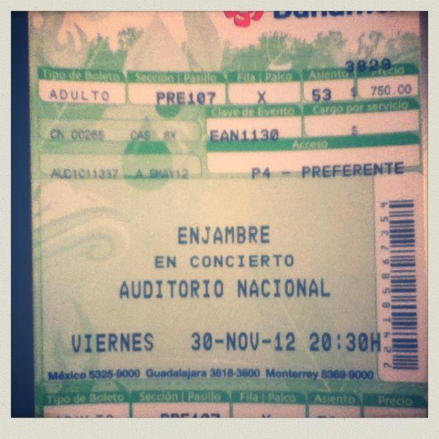 Enjambre Auditorio Nacional