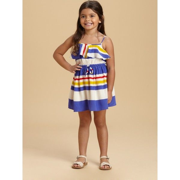 Juicy Couture Toddler's & Little Girl's Striped Fiji Dress ($64) ❤ liked on Polyvore