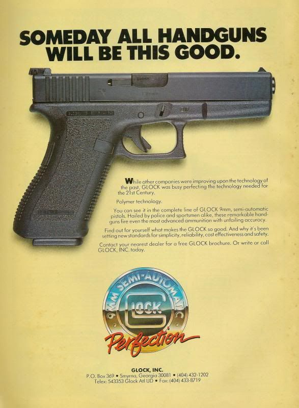 Glock Poster Vintage Circa 2001