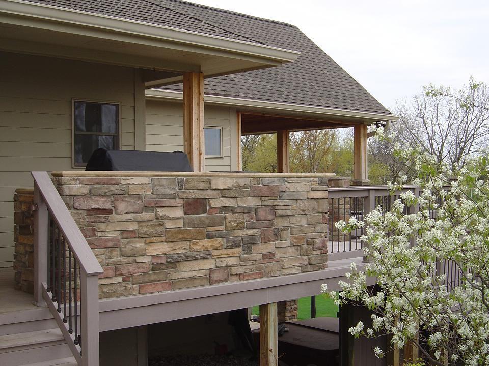 Outdoor Kitchen On Deck Outdoor Kitchen West Des Moines Rear View Outdoor Kitchens Photo Outdoor Kitchen Outdoor Stone Deck