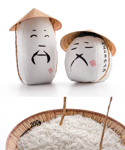 Rice Packaging Honors Farmers With Conical Hat That Doubles As A Measure Rice Packaging Packaging Farmer