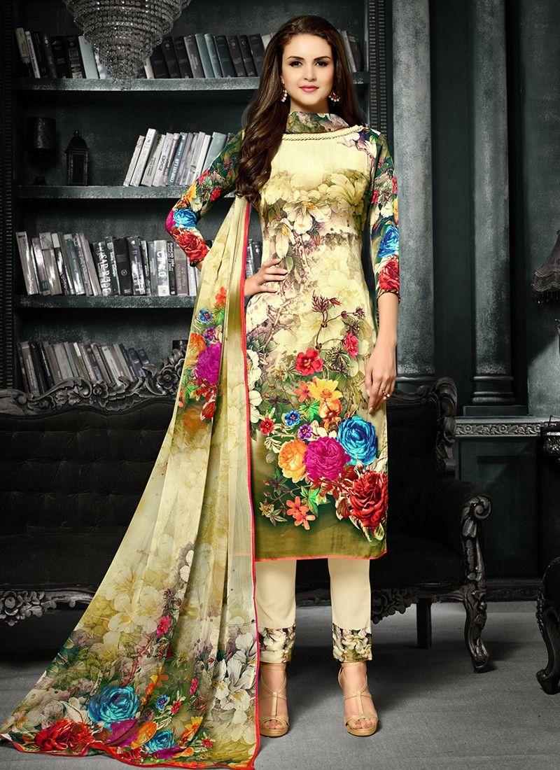 6aae4812b1d10 Intriguing Green Coloured Crepe Silk Printed Indian Designer Salwar Suit At best  Price By Uttamvastra - Online Shopping For Women