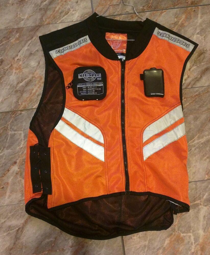 *USED* ICON MOTORSPORTS MILSPEC MESH MOTORCYCLE RIDING