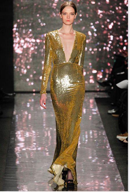 Collections Fall Winter 2017 13 New York Naeem Khan Gold Glitter Dresses