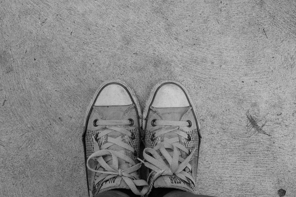 Pés, Sapatos, Converse, Todas As Estrelas, Pé, Sozinho