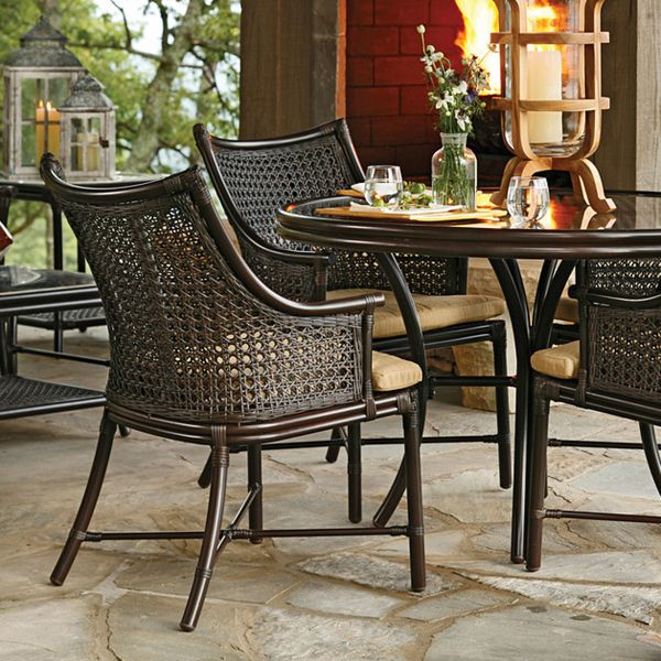 Bamboo And Wicker For Dining Room And Verandah Furniture Is British Colonial  India. Photo: