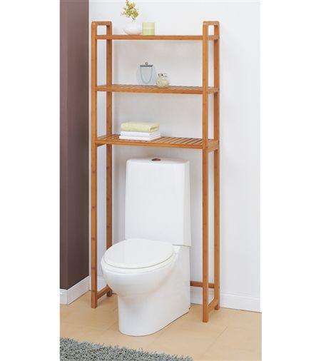 Lohas Bamboo Over Toilet Shelving Bathroom Storage Organization