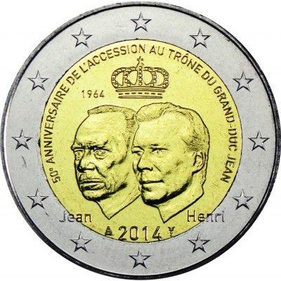 2 Euro CuNi Thronbesteigung UN