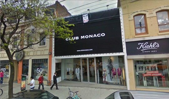 The First Club Monaco Store Located On Queen St West Toronto