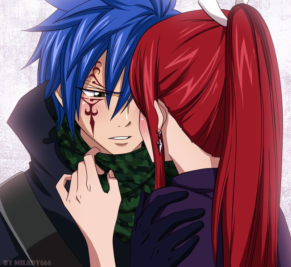 Jellal Fernandes and Erza Scarlet (Jerza) from Fairy Tail ...