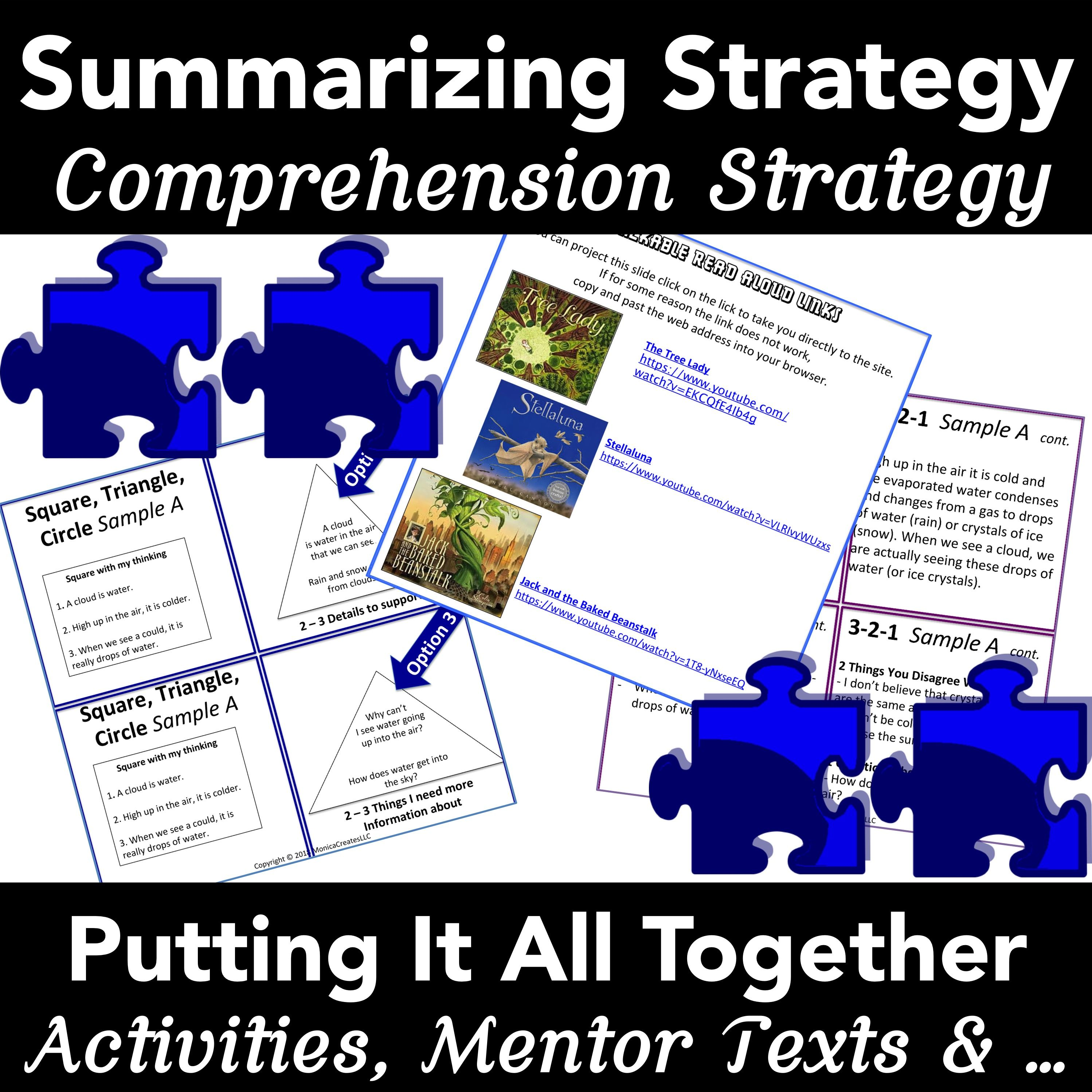 Comprehension Strategy Summarizing Cross Curricular