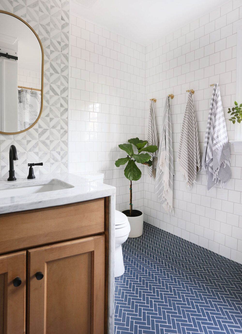 Photo of Guest bath reveal: all the sources — Sunny Circle Studio
