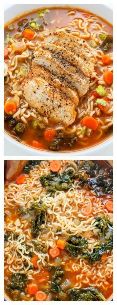 Blackened Chicken Ramen Noodle Soup is loaded with carrots, kale, and a TON of flavor! Make this the next time you're craving cozy comfort food - it does the trick every time. #ramen #soup #dinner #chicken #ramennoodlerecipes #blackenedchicken Blackened Chicken Ramen Noodle Soup is loaded with carrots, kale, and a TON of flavor! Make this the next time you're craving cozy comfort food - it does the trick every time. #ramen #soup #dinner #chicken #ramennoodlerecipes #blackenedchicken