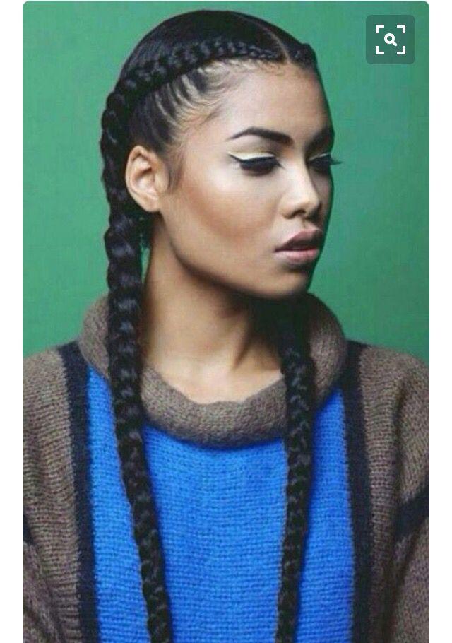 2 Cornrows Cool Braid Hairstyles Natural Hair Styles Braided Hairstyles
