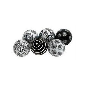 "Black And White Decorative Ceramic Balls Beautiful Black And White Decorative Ceramic Ball S6 3""d"