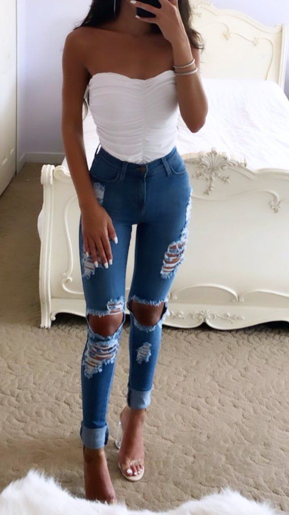 PICTURE PERFECT RIPPED JEANS – fitsss✨