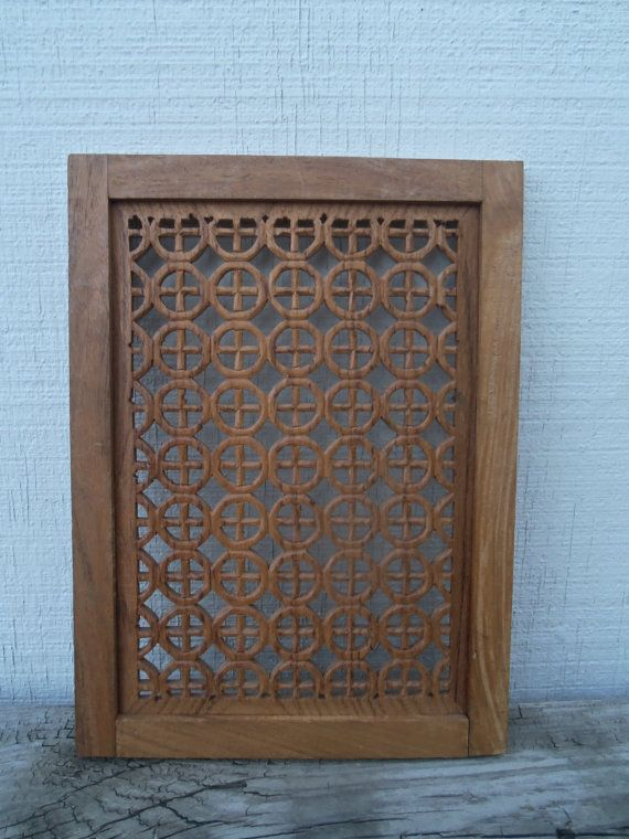 Vintage Rustic Hand Carved Oak Panel by bettyrayvintage on Etsy, $33.00