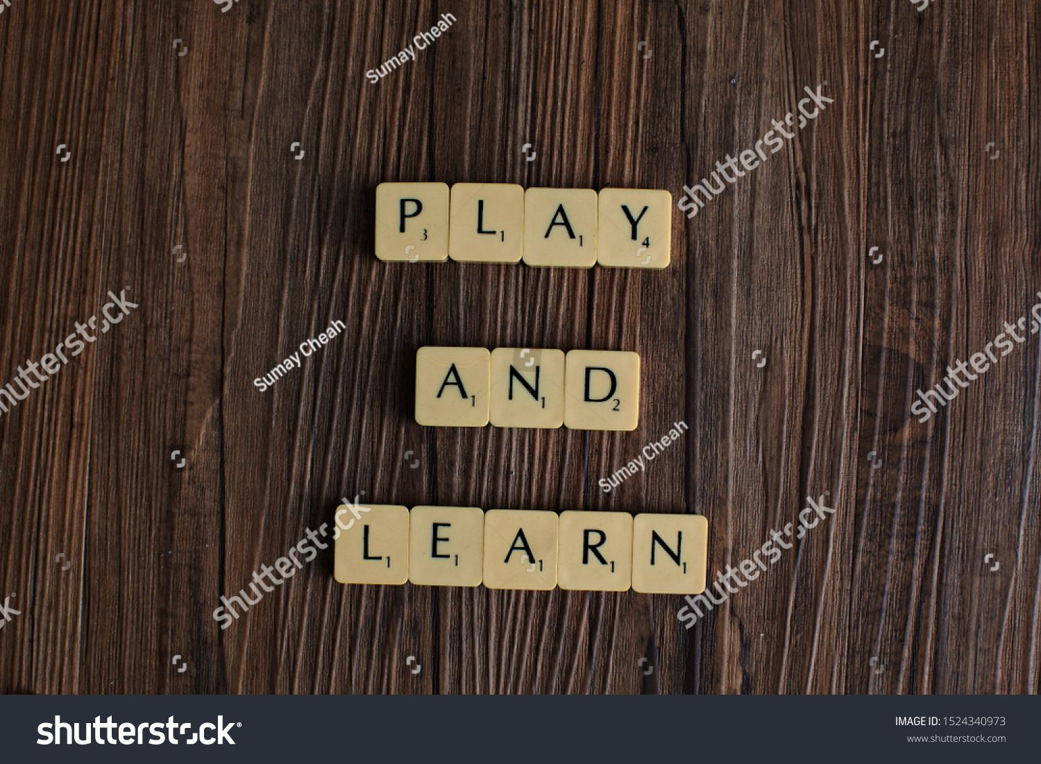 Penang, MalaysiaAug 12 2019.'Play and Learn' spelled out