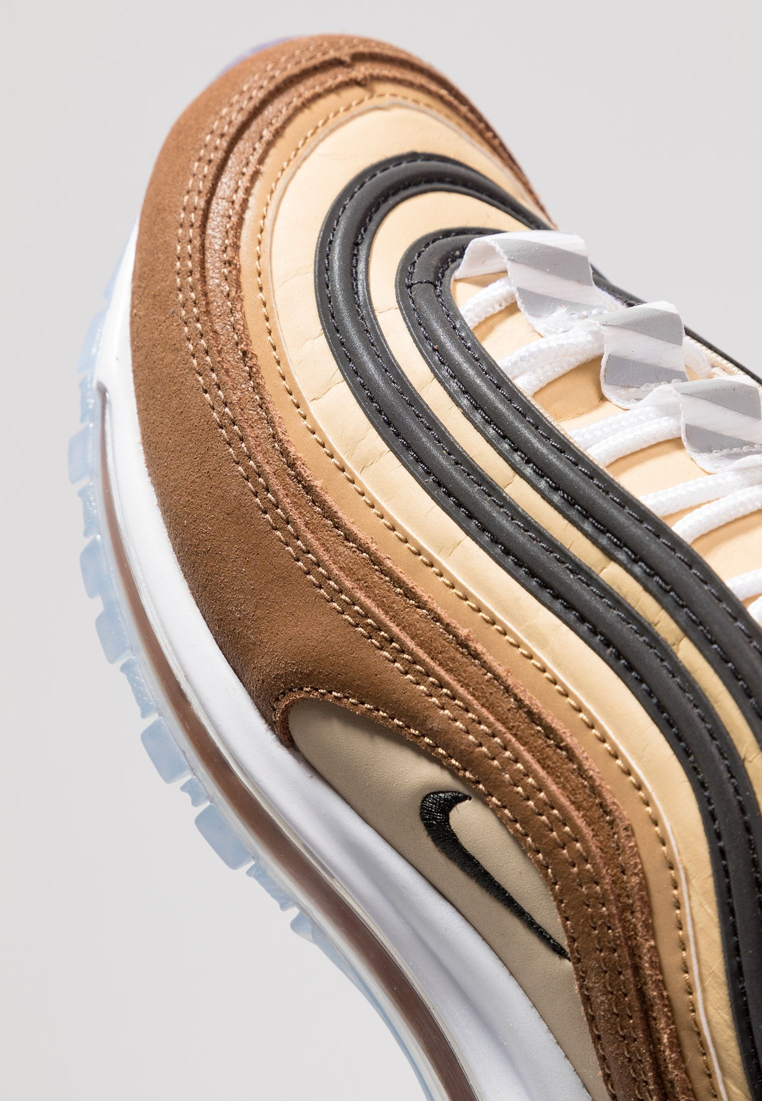 4843b00bf052 Nike Sportswear AIR MAX 97 - Sneakersy niskie - ale brown black elemental  gold