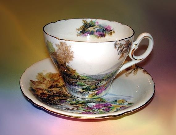 Shelley  Heather  Tea Cup and Saucer Set
