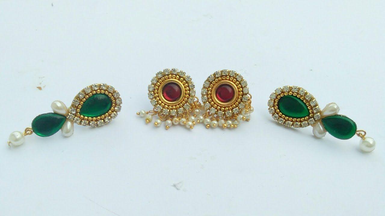 How To Make Designer Earrings Paper Earrings Paper Jewellery