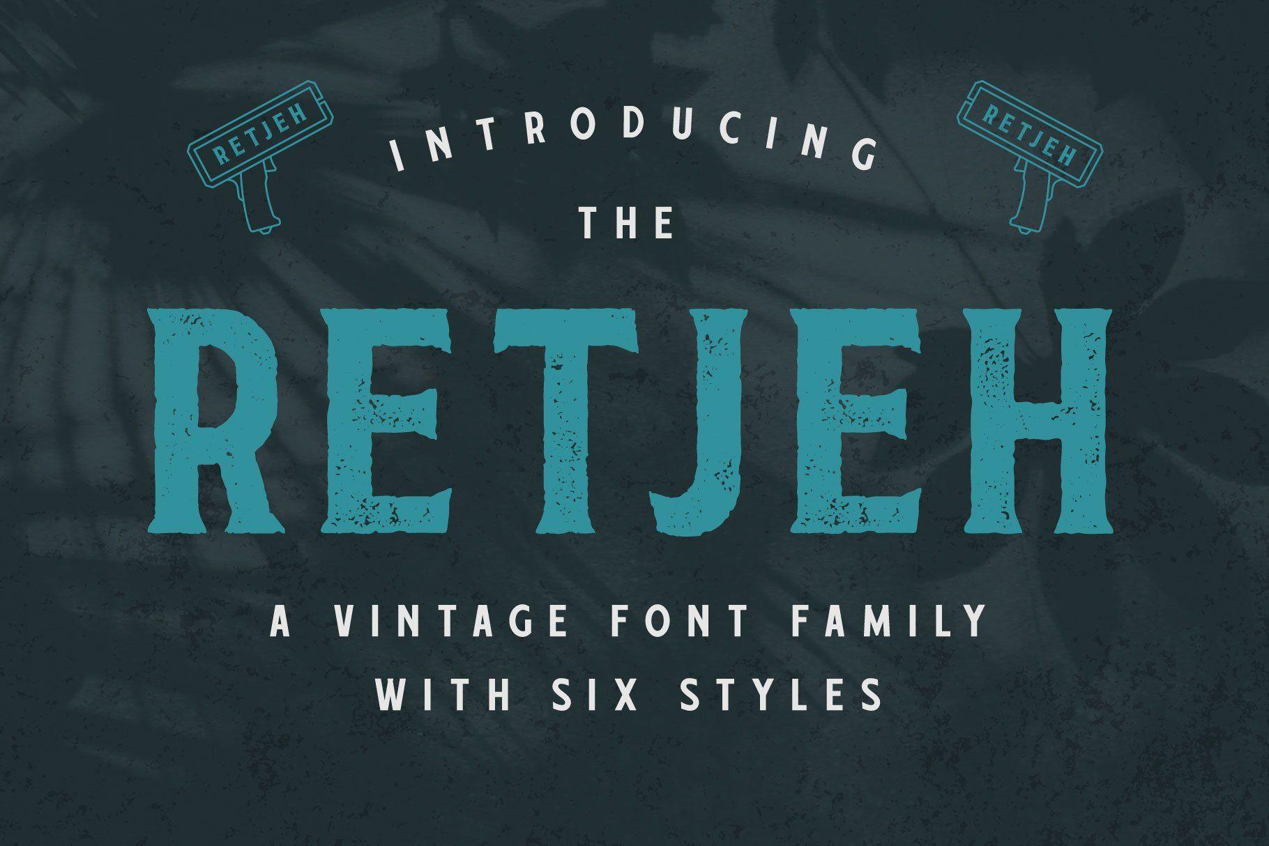 Retjeh Vintage Font Family In 2020 Free Script Fonts Download Fonts Vintage Fonts