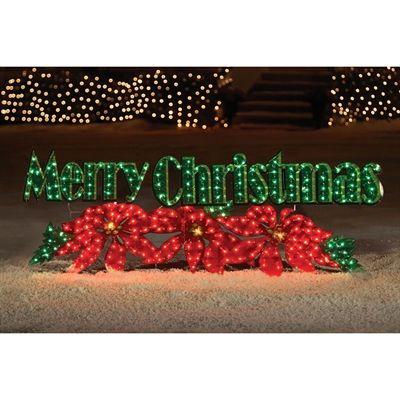 Holiday Living Christmas Yard Decor LR250003MC12 72-in Merry
