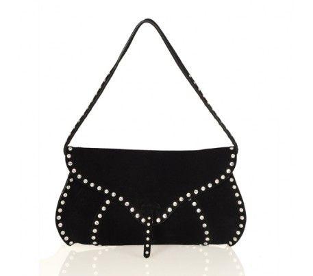 Celine Black Suede And Swarovski Crystal Bag Crystal Bags Bags