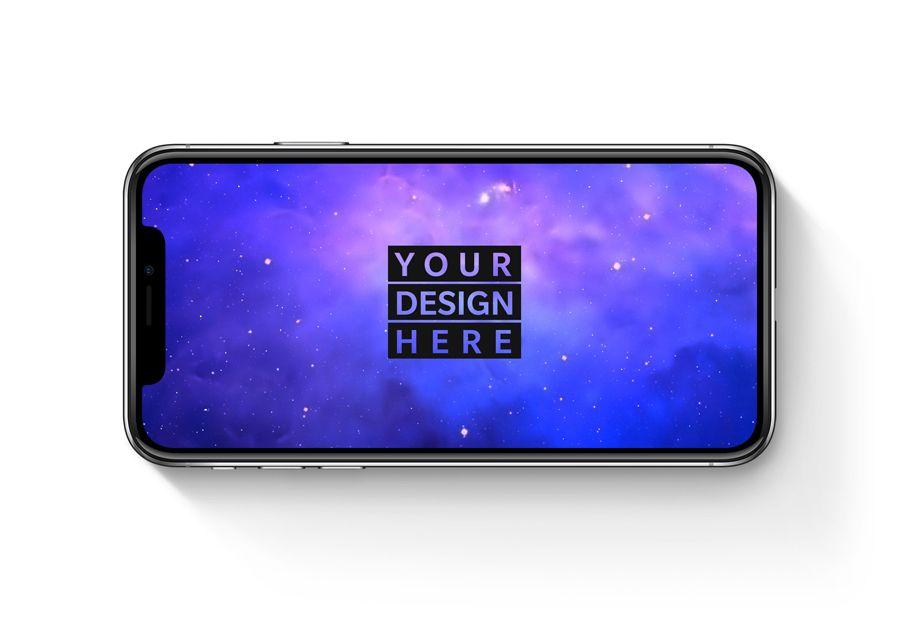 Iphone X Landscape Free Psd Mockup Iphone Mockup Psd Mockup Free Psd Mockup Templates