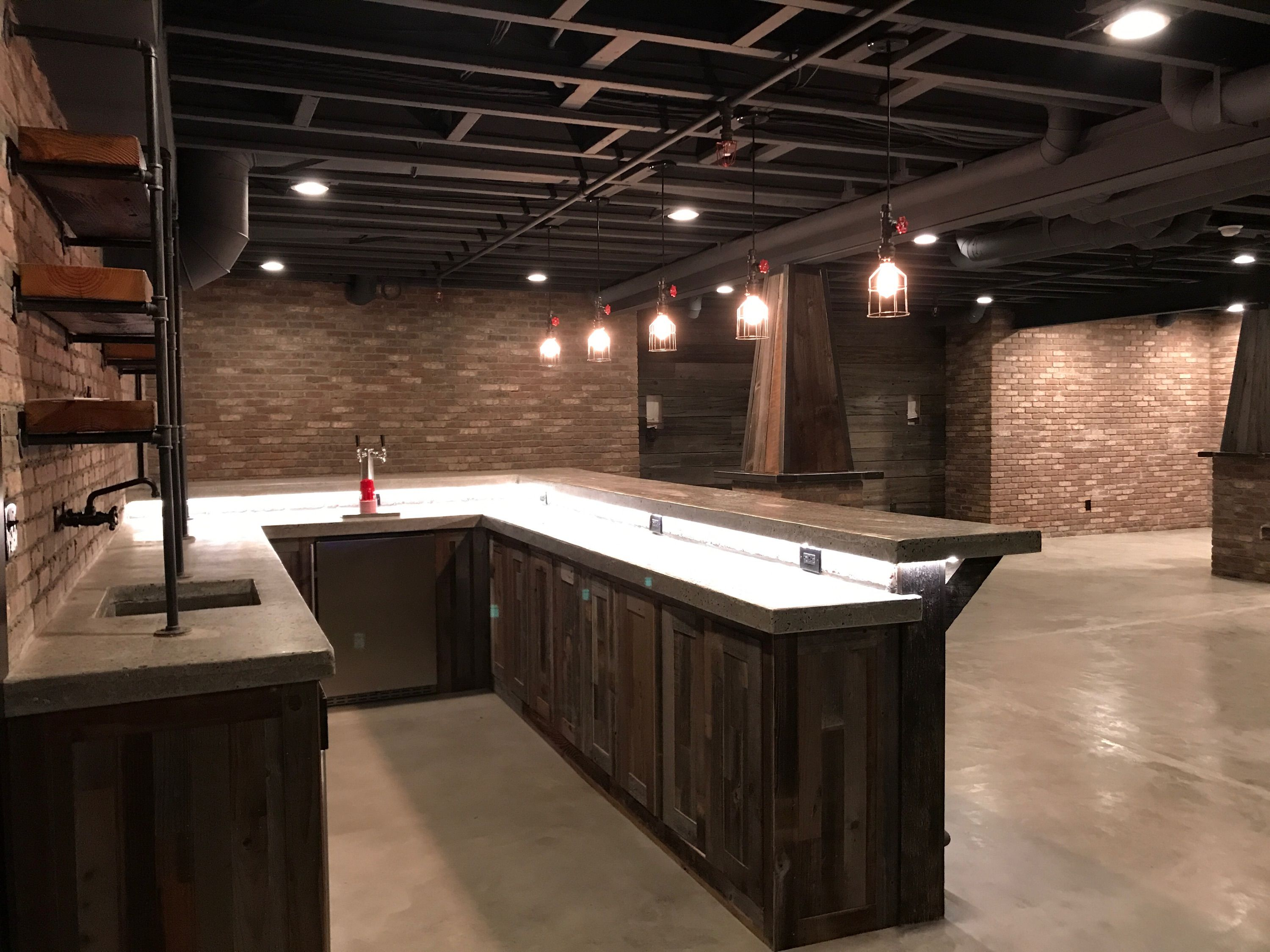 Industrial Basement Pipe Shelves Redo In 2019 Rustic Remodeling